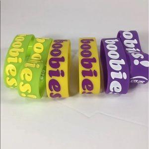 I Love Heart Boobies Cancer Awareness Lot Bracelet